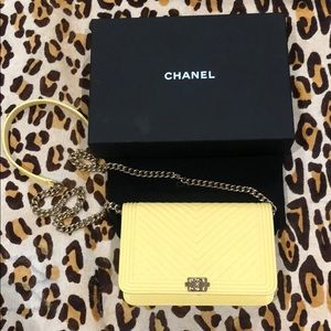 CHANEL o-mini grain bag, yellow